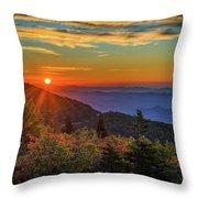 Nc Mountain Sunrise Blue Ridge Mountains Throw Pillow
