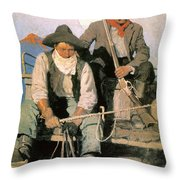 N.c. Wyeth: The Pay Stage Throw Pillow