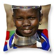Ndebele Maiden Throw Pillow