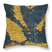 Indochinese Peninsula And Major Islands Of Indonesia Throw Pillow
