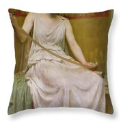 Neaera Reading A Letter From Catullus Throw Pillow by Henry John Hudson