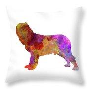 Napolitan Mastiff In Watercolor Throw Pillow