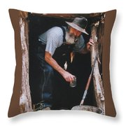 Near Bout Ready Throw Pillow