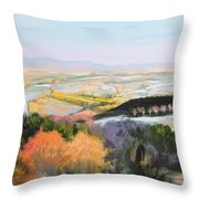 Near Clawddnewydd In North Wales. Throw Pillow