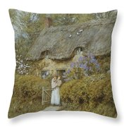 Near Freshwater Isle Of Wight Throw Pillow