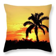 Near Perfect Palm Tree Throw Pillow