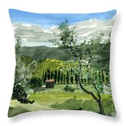 Near San Giovanalle Tuscany Throw Pillow