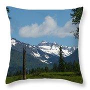 Near Sparwood British Columbia  Throw Pillow