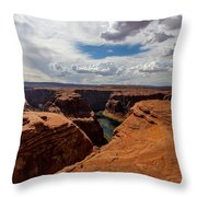 Near The Edge Throw Pillow
