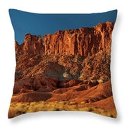 Near The Fluted Wall In Capitol Reef National Park Utah Throw Pillow