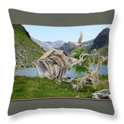 Near The Lake 3 Throw Pillow