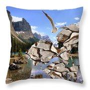 Near The Lake In The Mountain 2 Throw Pillow