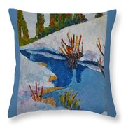 Near The Lake Throw Pillow