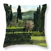 Near Villa Mandri Gardens Throw Pillow