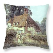 Near Witley Surrey Throw Pillow by Helen Allingham