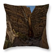 Nearing The Slot Canyon - Tent Rocks Throw Pillow