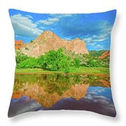 Nearly 2 Million People Rollick In This World-famous City Park Every Year.  Throw Pillow