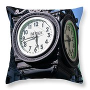 Nearly A Quarter To Six Throw Pillow