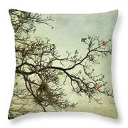 Nearly Bare Branches Throw Pillow