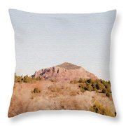 Nearly Deserted Throw Pillow