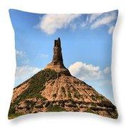 Nebraska Chimney Rock Panorama Throw Pillow