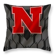 Nebraska Cornhuskers Uniform Throw Pillow