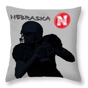 Nebraska Football Throw Pillow