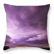 Nebraska Night Thunderstorms 007 Throw Pillow