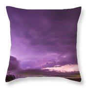 Nebraska Night Thunderstorms 008 Throw Pillow