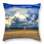 Nebraska Thunderhead Throw Pillow