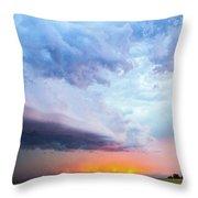 Nebraska Thunderstorm Eye Candy 021 Throw Pillow