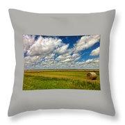 Nebraska Wheat Fields Throw Pillow