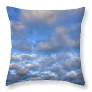 Nebraskan Altocumulus Clouds Throw Pillow