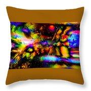Nebula Collision Course Throw Pillow