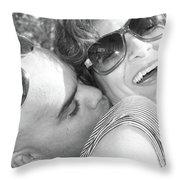 Neck Kisses Tickle..... Throw Pillow
