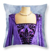 Necklace And Dress Throw Pillow