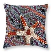 Necklace Seastar Throw Pillow