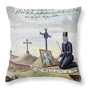Necromancy, 18th Century Throw Pillow
