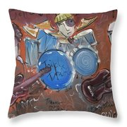 Ned Evett And Triple Double Throw Pillow