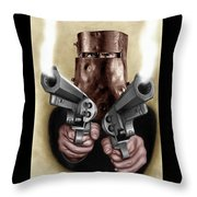 Ned Kelly Painting Throw Pillow