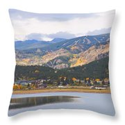Nederland Colorado Scenic Autumn View Boulder County Throw Pillow by James BO  Insogna