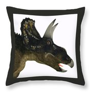 Nedoceratops Dinosaur Head Throw Pillow