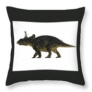 Nedoceratops Side Profile Throw Pillow