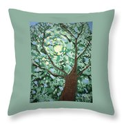 Ned's Garden The Right Tree Throw Pillow