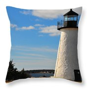 Neds Point Light Throw Pillow