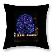 Needham's Blue Tree Throw Pillow