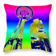 Needle And Ferris Wheel Fractal Throw Pillow