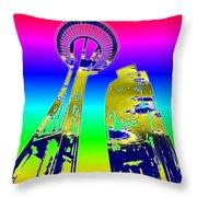 Needle And Ferris Wheel Fractal Throw Pillow
