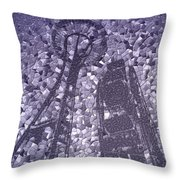 Needle And Ferris Wheel Mosaic Throw Pillow