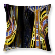Needle And Ferris Wheel  Throw Pillow